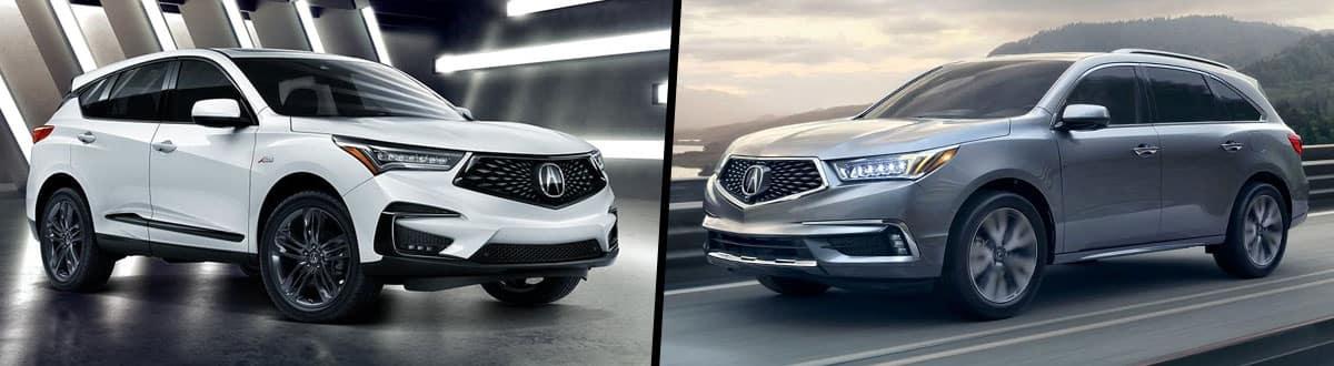 2019 Acura RDX vs 2019 Acura MDX