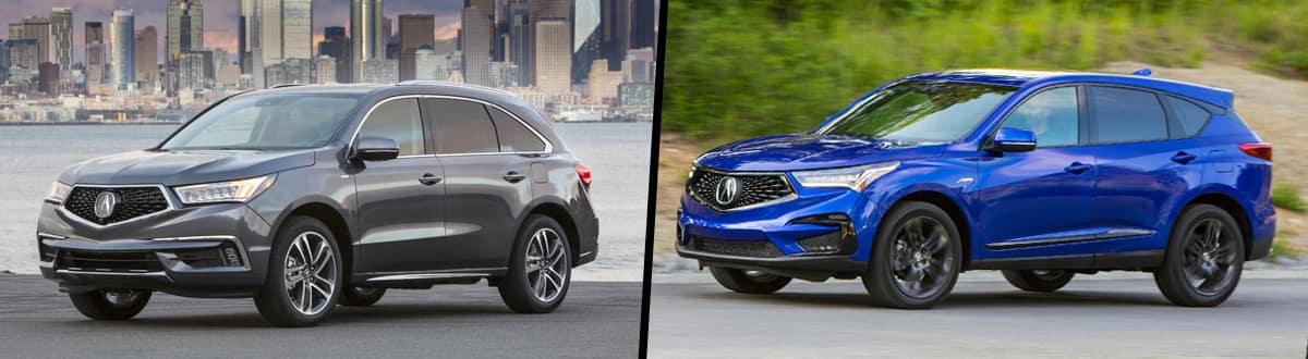 2020 Acura MDX vs 2020 Acura RDX