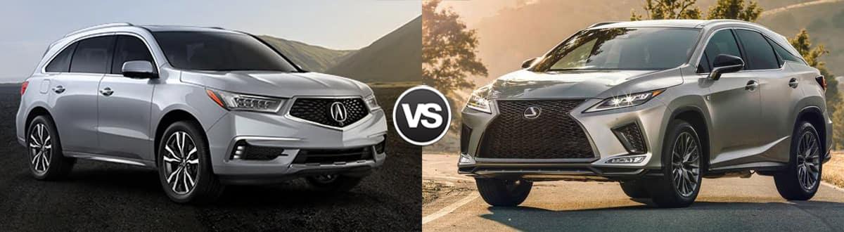 2020  Acura MDX vs 2020 Lexus RX 350L