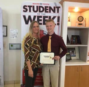 Beaver Toyota Student of the Week Richard Downs