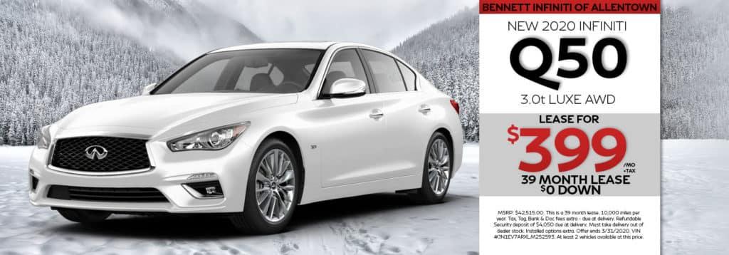 New 2020 INFINITI Q50 LUXE AWD