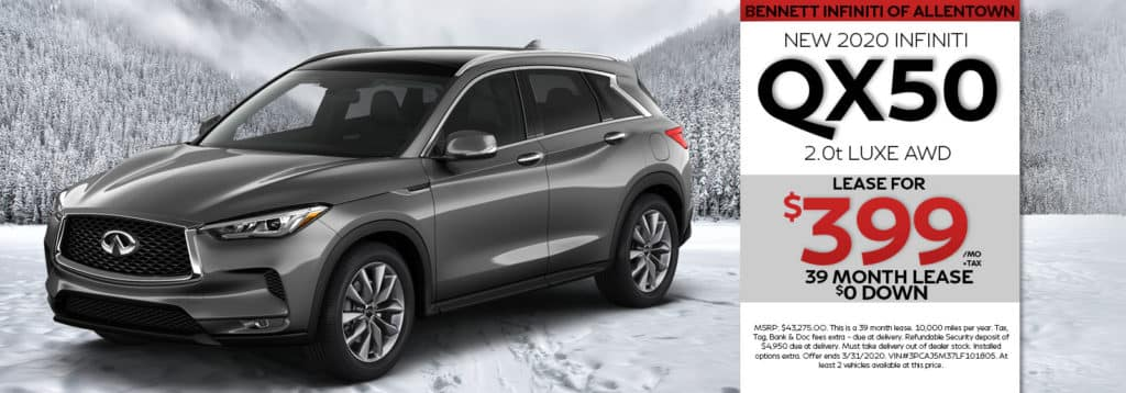 New 2020 INFINITI QX50 LUXE AWD