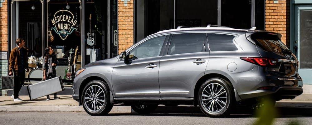 Silver 2020 INFINITI QX60 on Street