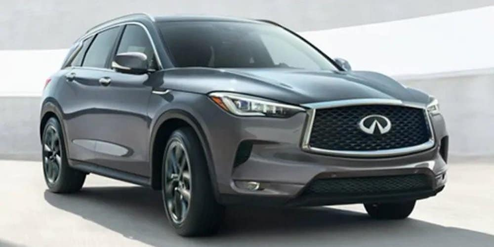 Silver 2020 INFINITI QX50 Driving