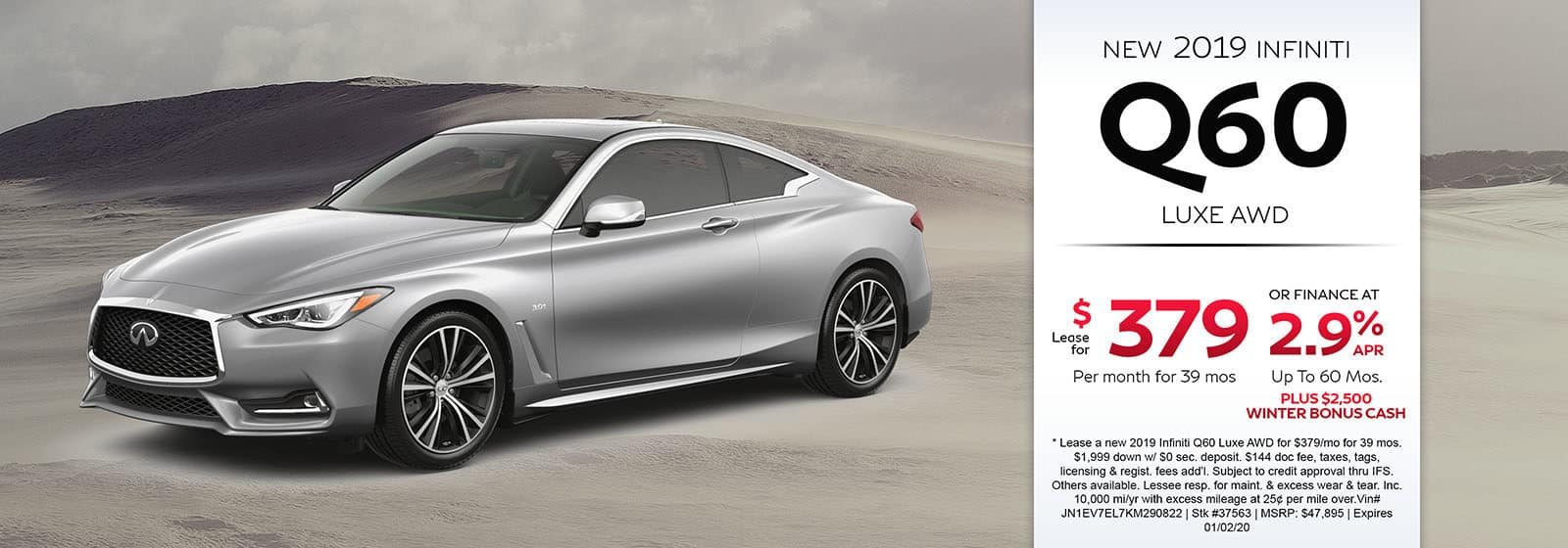 2019 INFINITI Q60 Luxe AWD