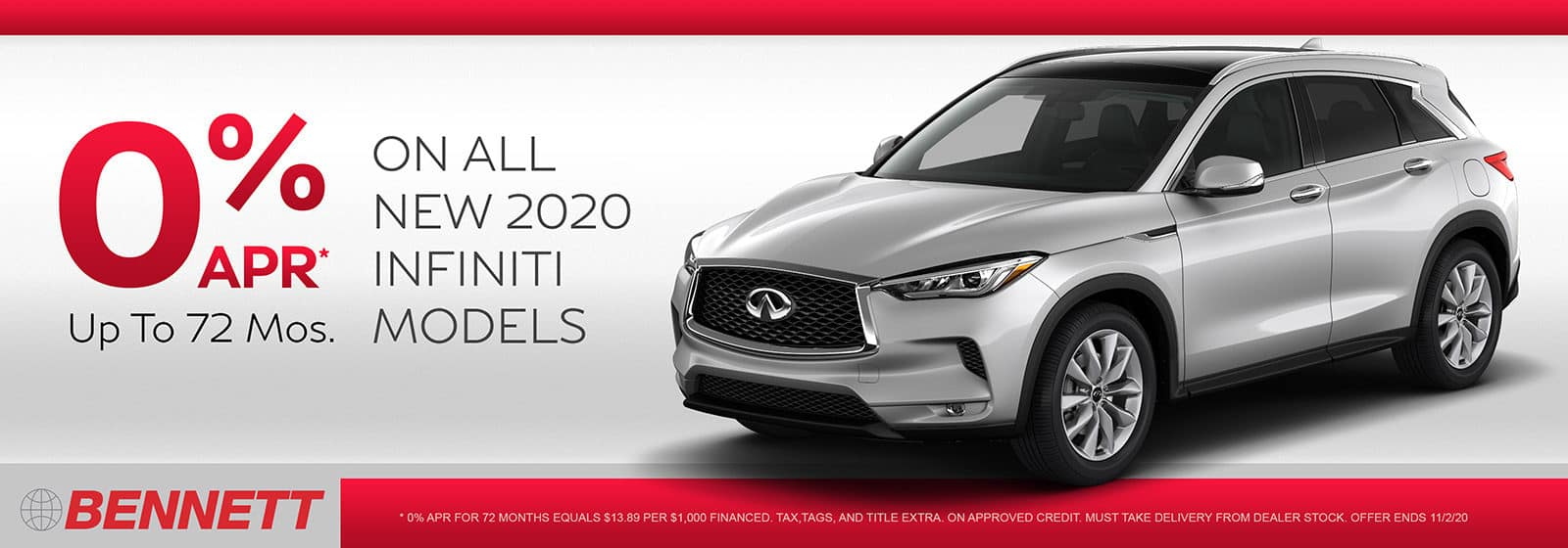 2020-10 – Bennett INFINITI Atown 0 APR FINANCING FOR UP TO 72 MONTHS v2