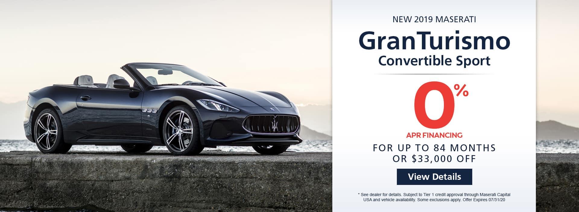 2019 Maserati GranTurismo Convertible Sport