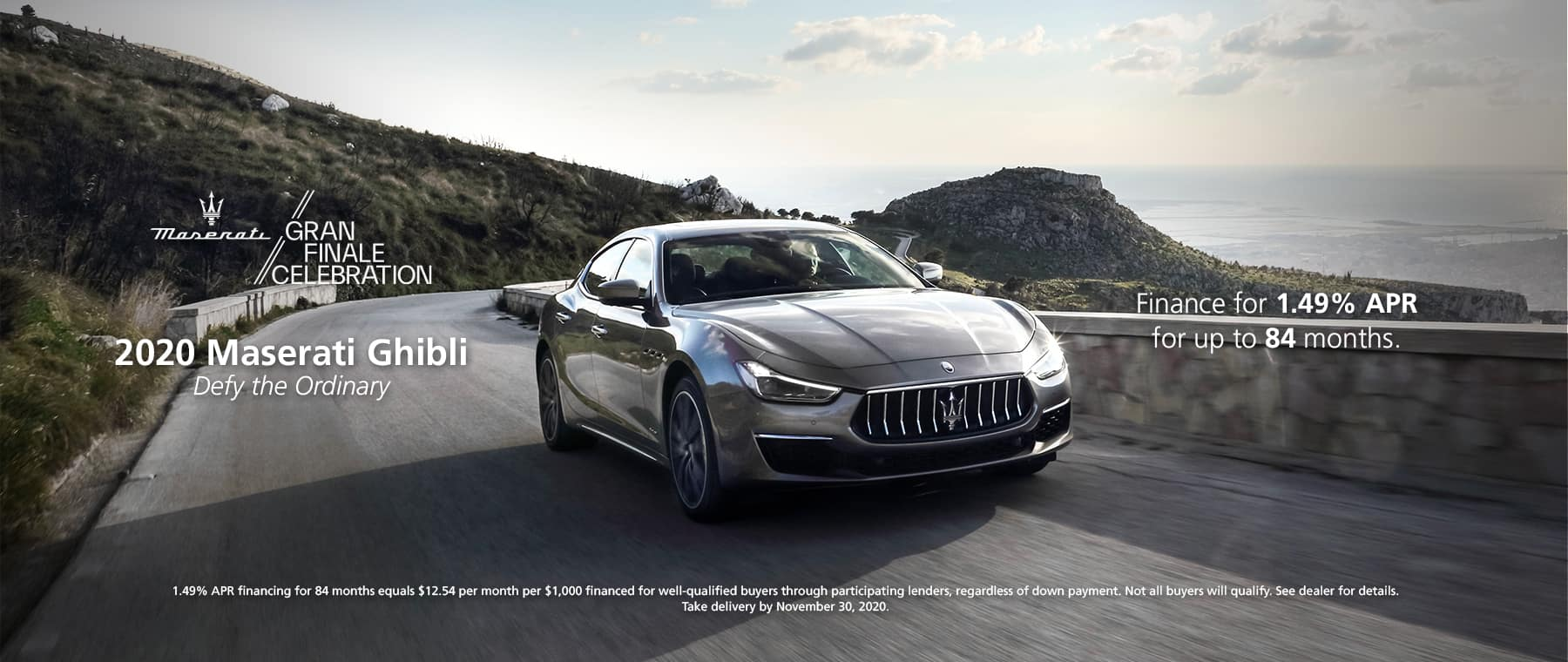 2020 Maserati Ghibli. Finance for 1.49% APR for up to 84 months.