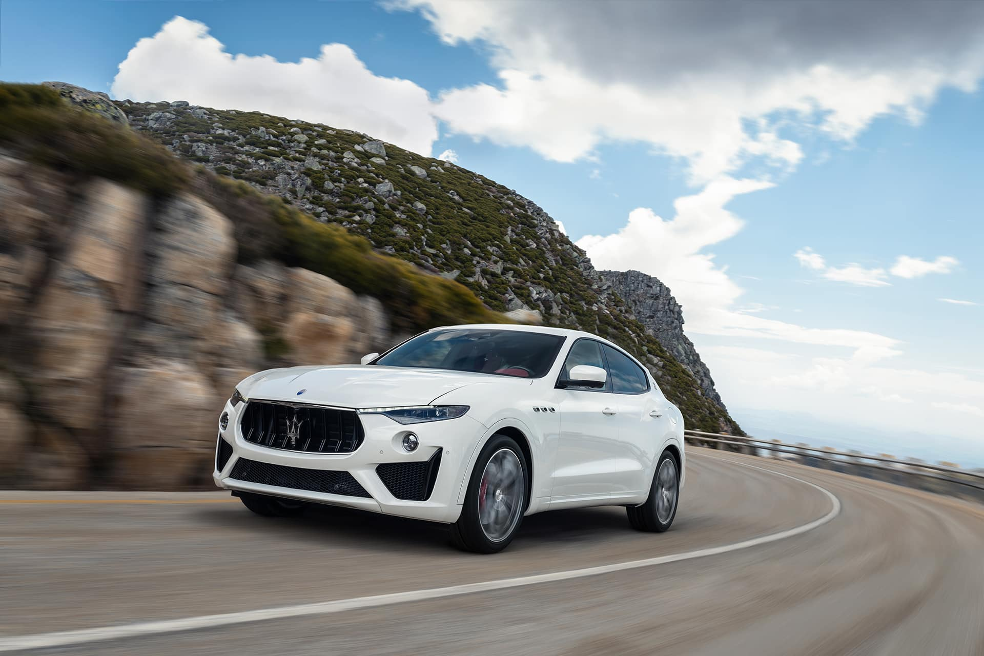 2020 Maserati Levante driving on mountain road | Bennett Maserati of Allentown is a Car Dealership near East Stroudsburg PA in Allentown