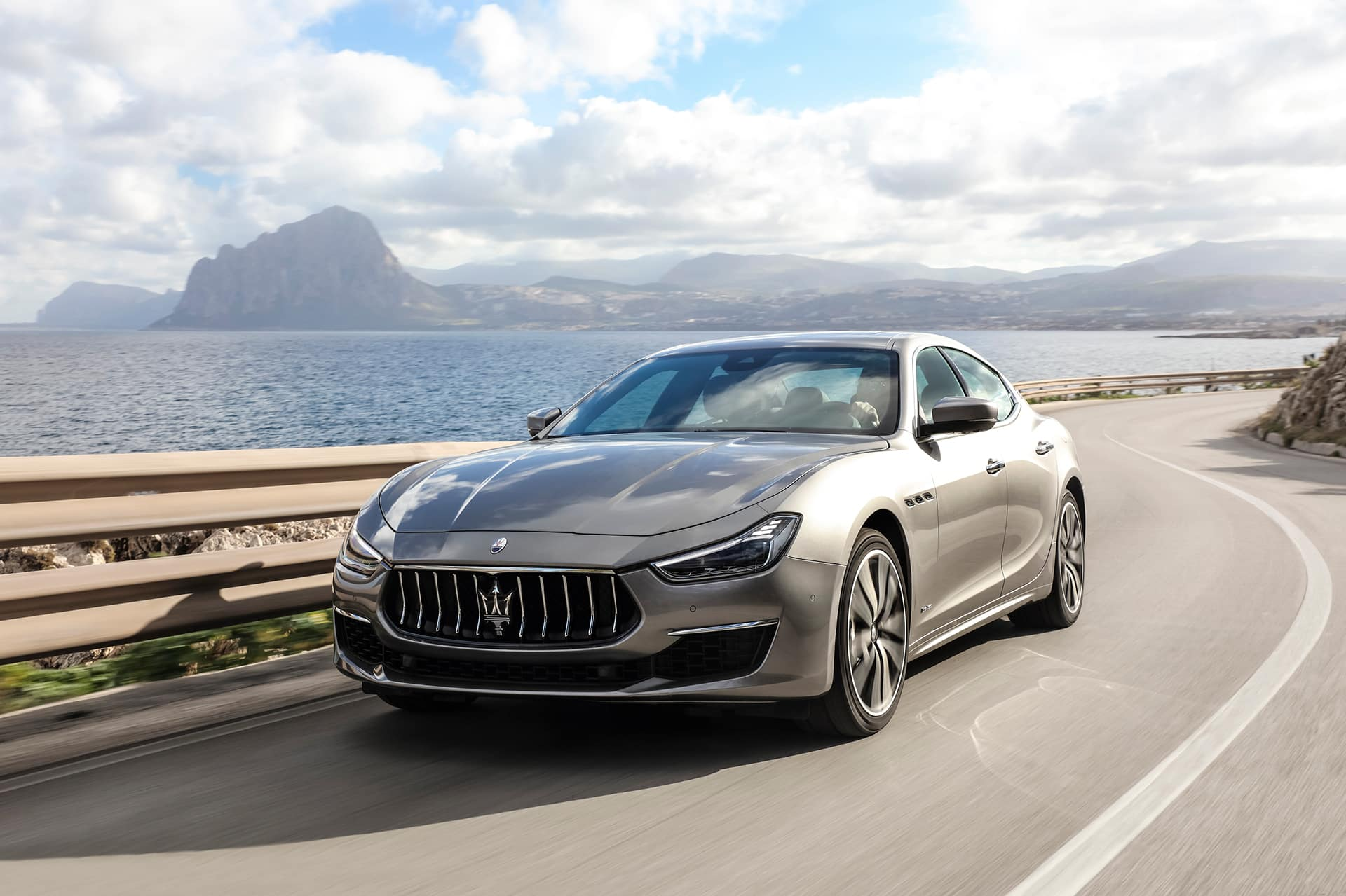 2020 Maserati Ghibli driving on mountain road | Bennett Maserati of Allentown is a Car Dealership near Wescosville PA in Allentown