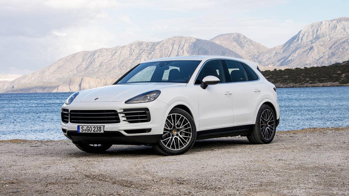 2019 Porsche Cayenne White Exterior