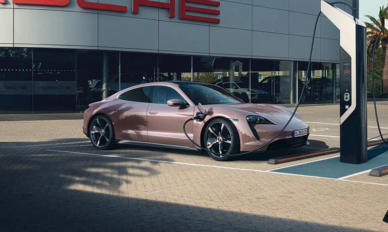 2021 Porsche Taycan Exterior charging outside