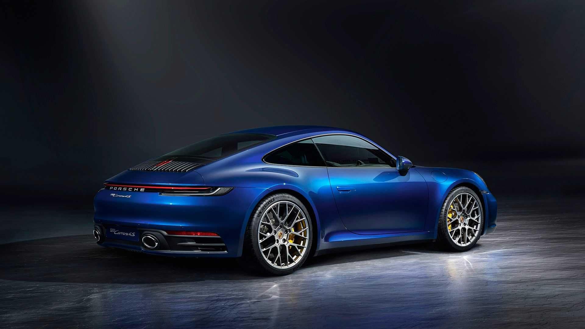 2019 911 Carrera Blue Exterior Back View