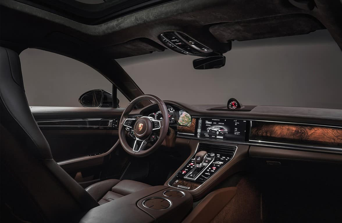 2019 Porsche Panamera Night Interior View
