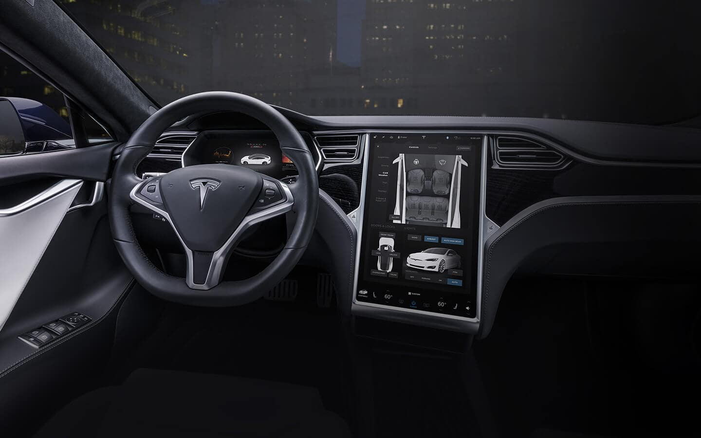 2019 Tesla Model S Dashboard Interior View