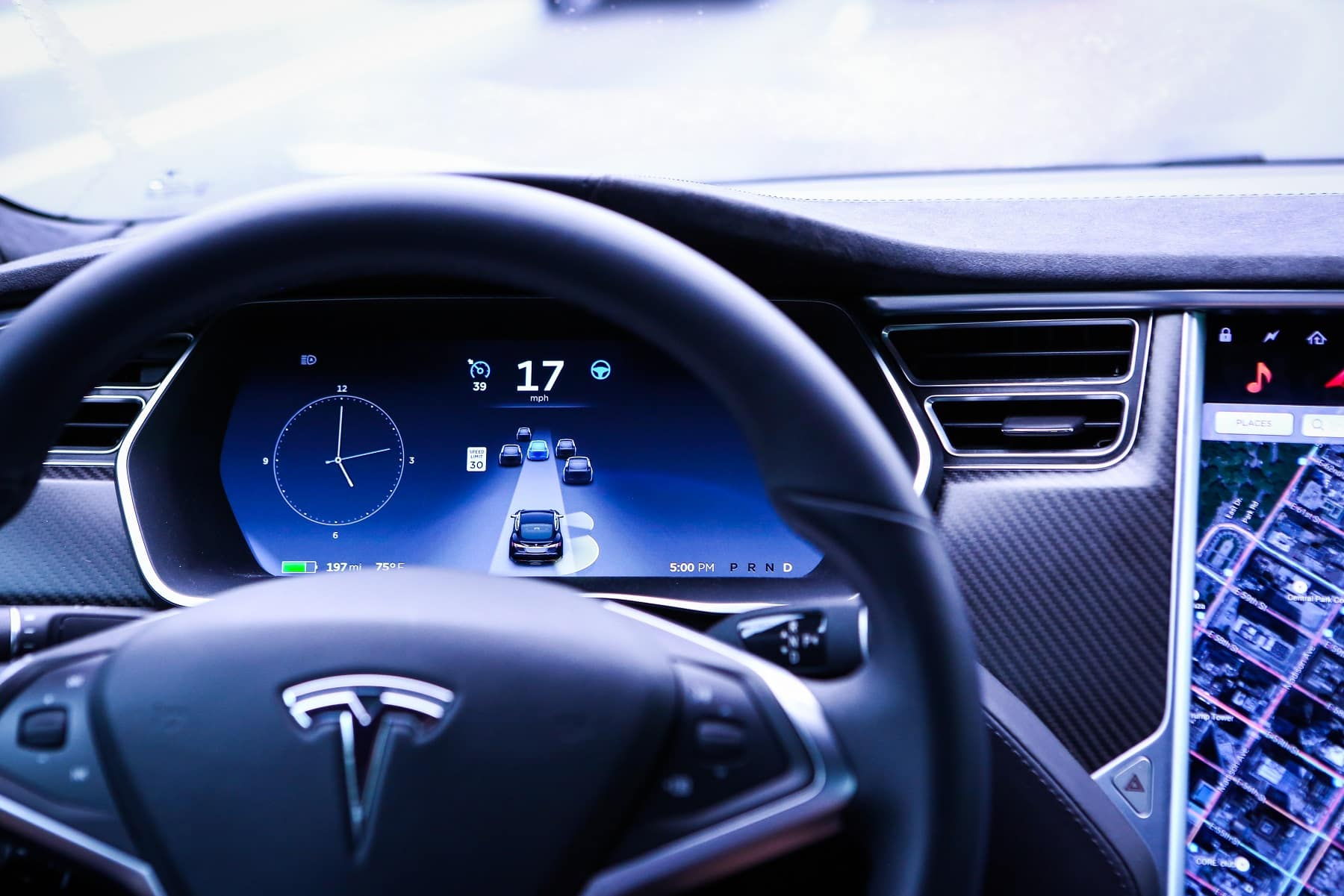2019 Tesla Model S Dashboard Technology