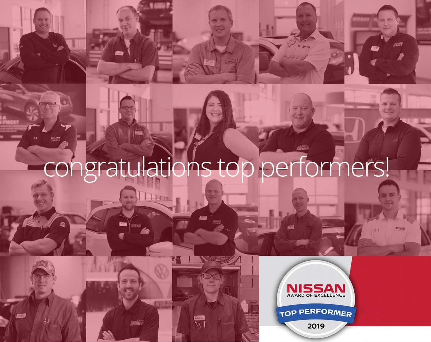 Nissan Top Performers
