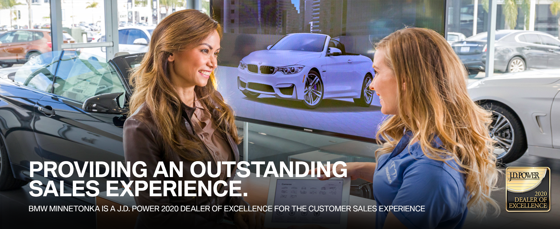 BMW of Minnetonka is a J.D. Power 2020 Dealer of Excellence for the Customer Sales Experience