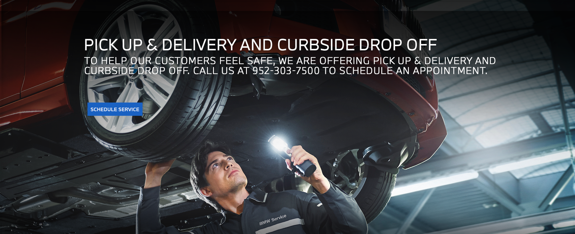 BMW of Minnetonka is offering Delivery or Curbside pick up and drop off
