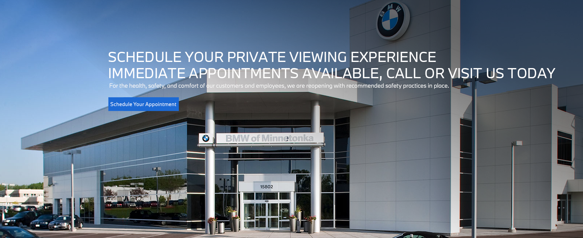 Schedule Your Appointment Now with BMW of Minnetonka