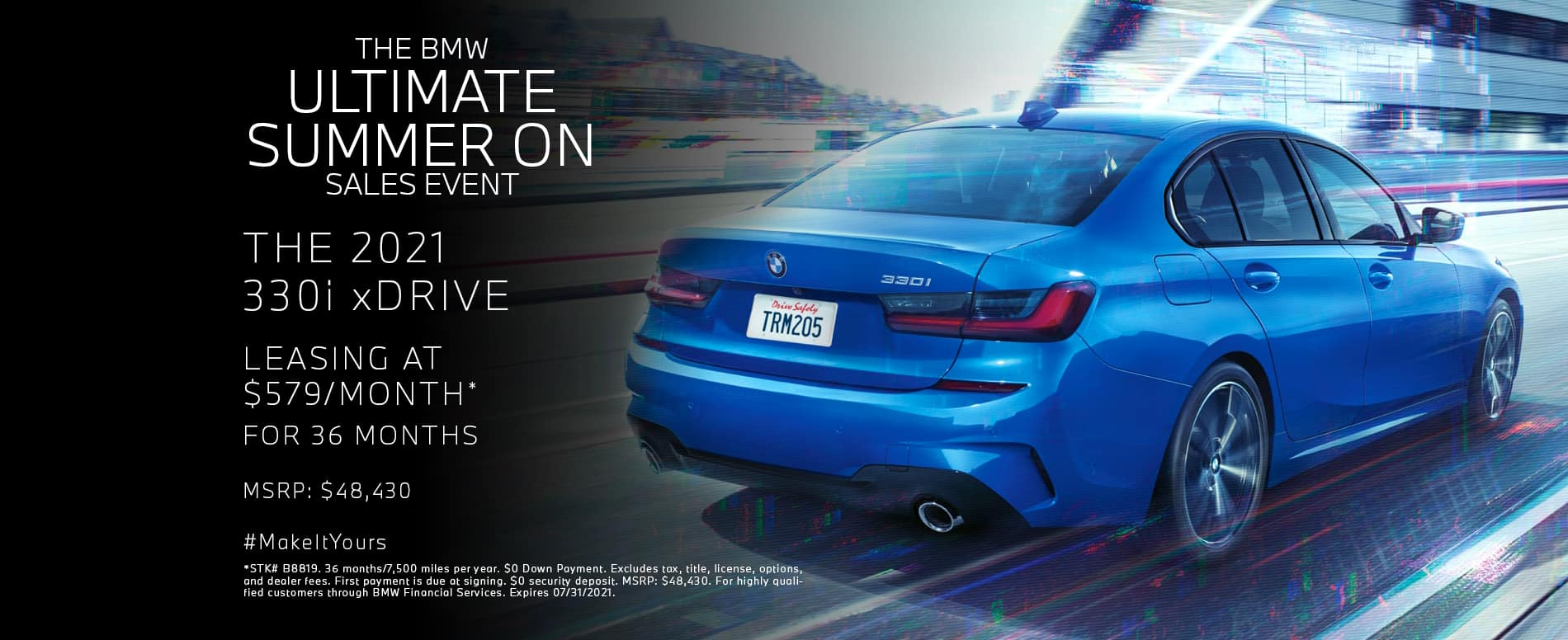 Lease a new 2021 330i xDrive for $579/mo