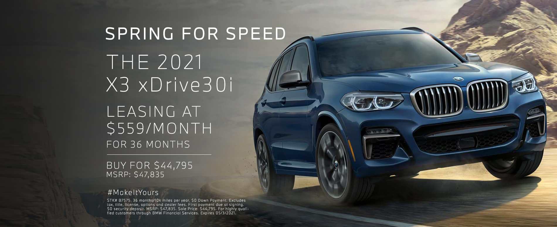 Lease a new X3. See dealer for details.