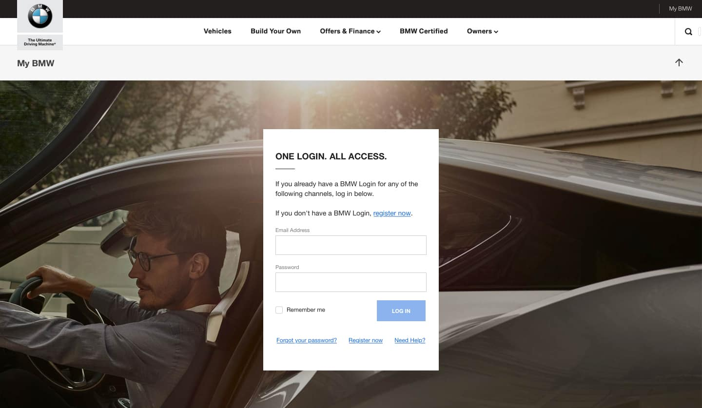 Log In To My BMW