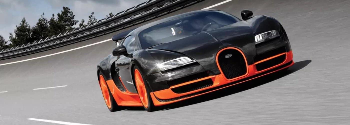 Bugatti Veyron on Track