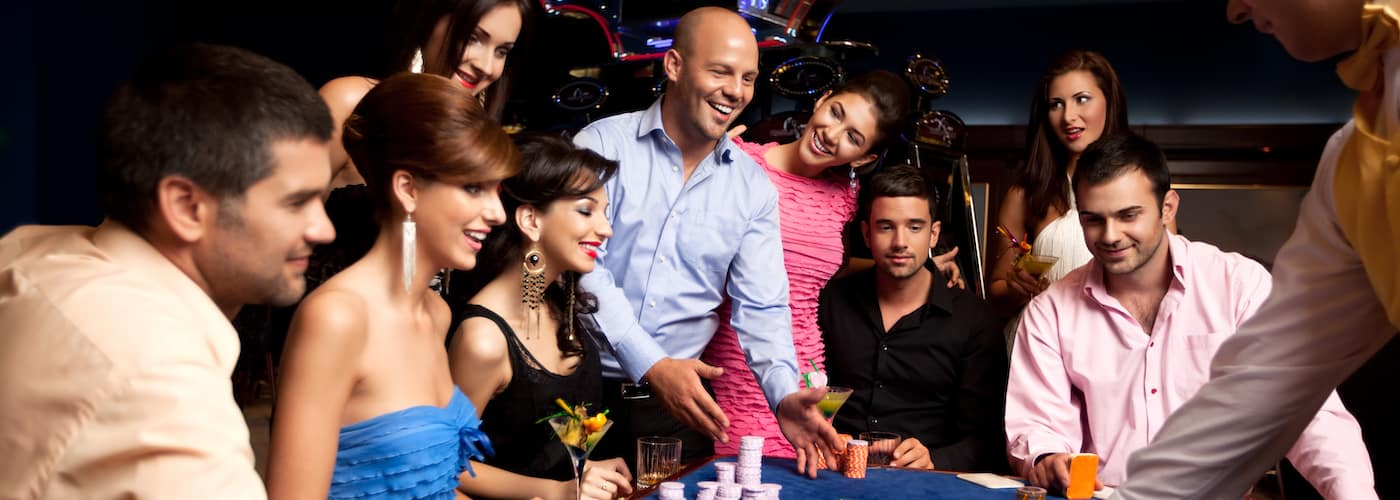 Group of Friends at a Casino