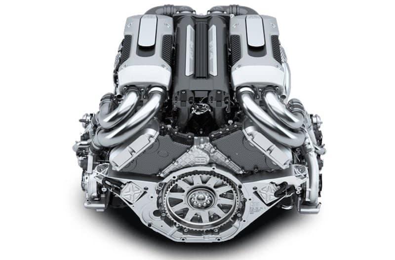 W16 Engine on White Background