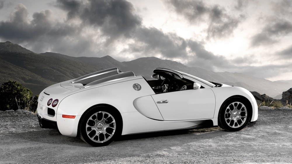 Bugatti Veyron Parked in Mountains