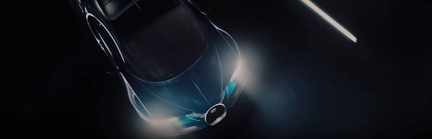 Bugatti on the Road at Night