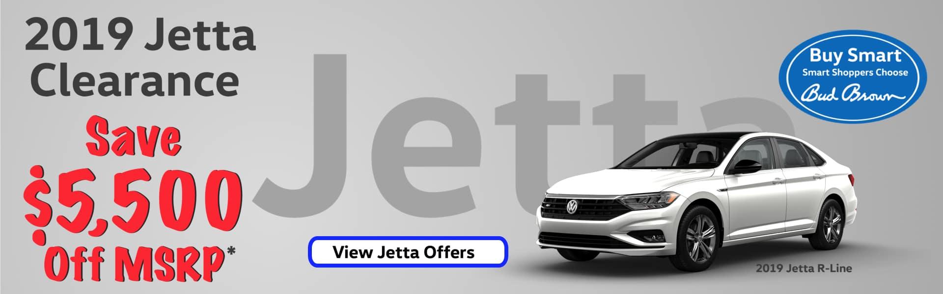 Bud Brown VW $5500 off new Jetta