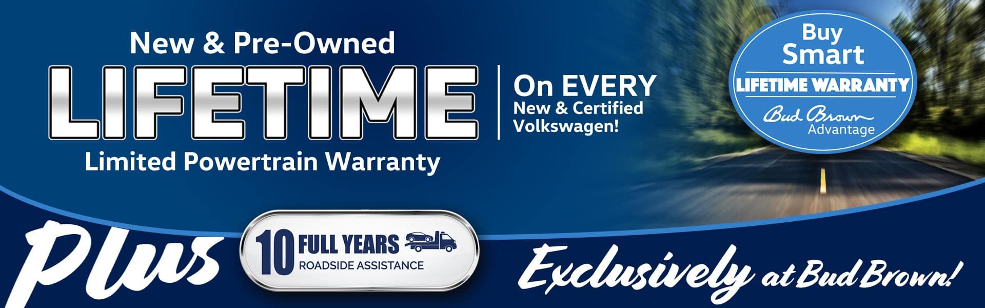 Bud Brown Advantage Lifetime Warranty