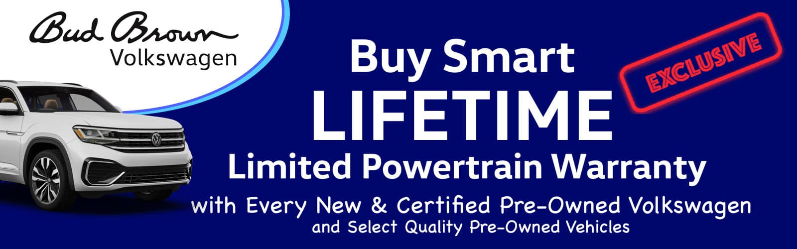Exclusive Lifetime Warranty Only at Bud Brown