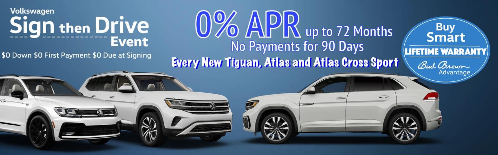New VW SUV 0% APR offers