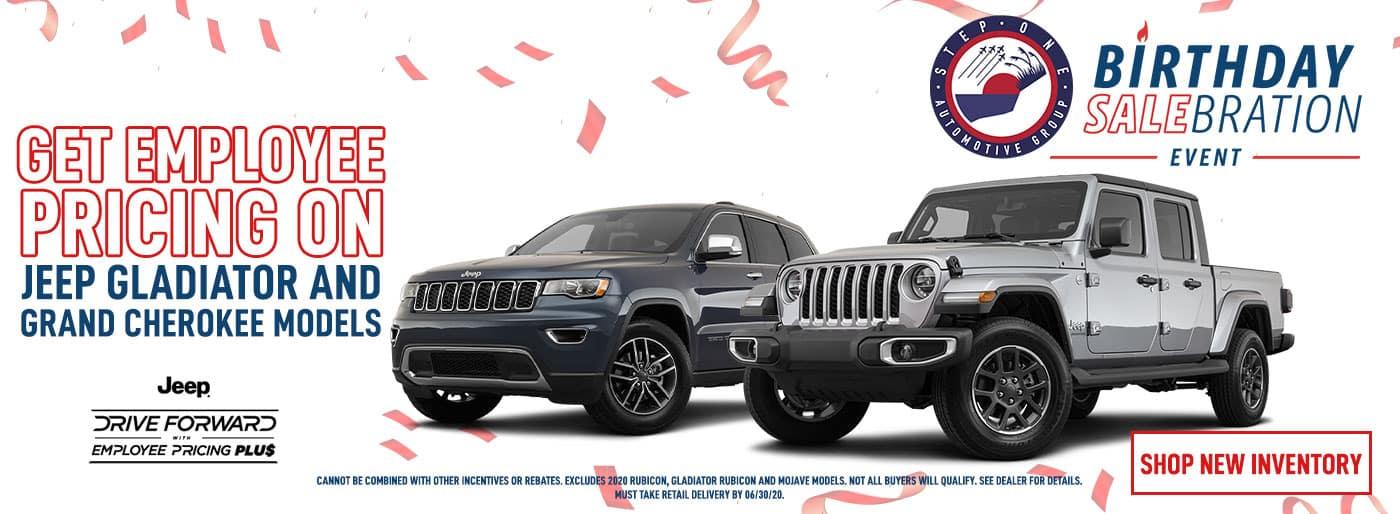 Employee Pricing on Jeep Gladiator and Jeep Grand Cherokee June Offer