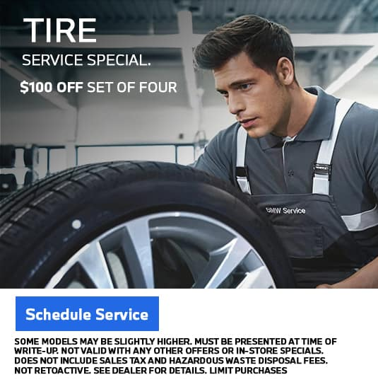 BMW tire service special