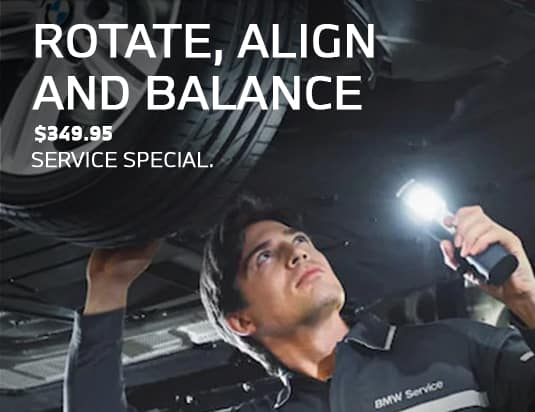 bmw rotate alignment service special