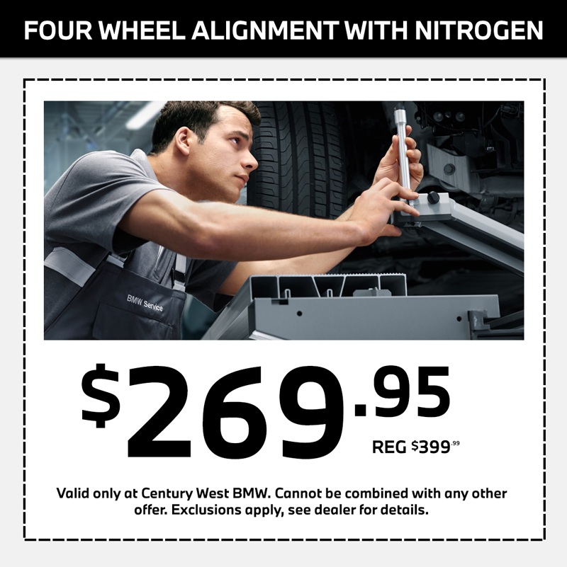 bmw four wheel alignment service special in los angeles california