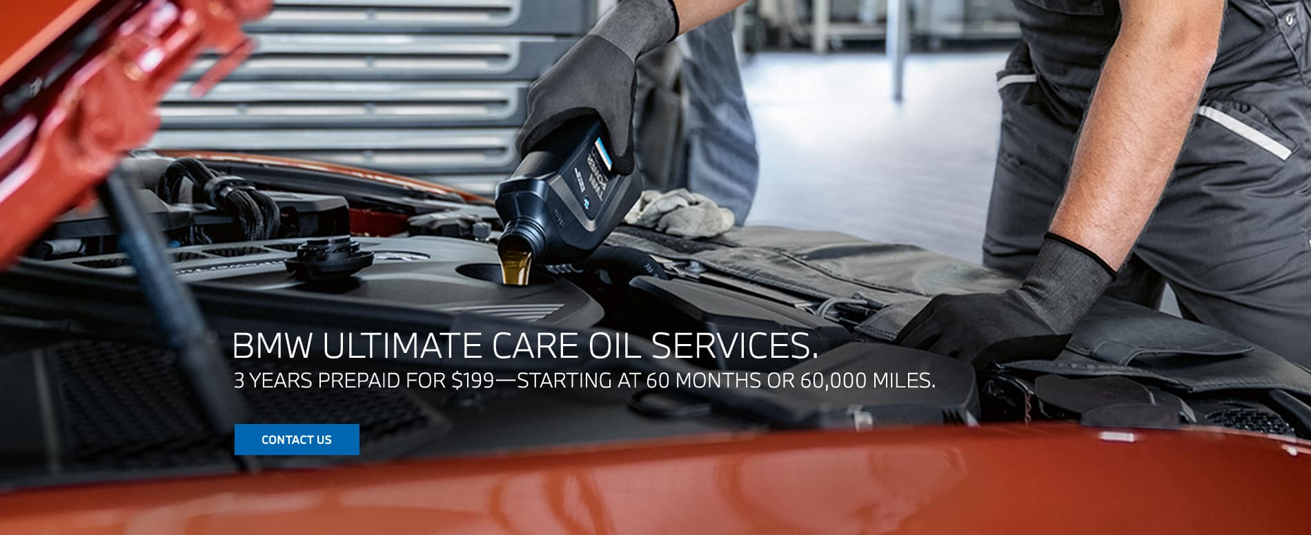 bmw ultimate oil change service for sale in los angeles