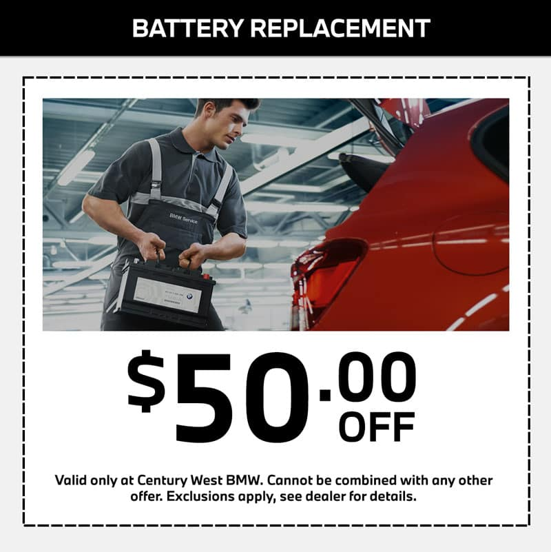 bmw battery replacement service special