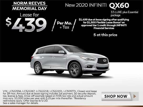 New 2020 QX60 3.5 LUXE plus Essential package