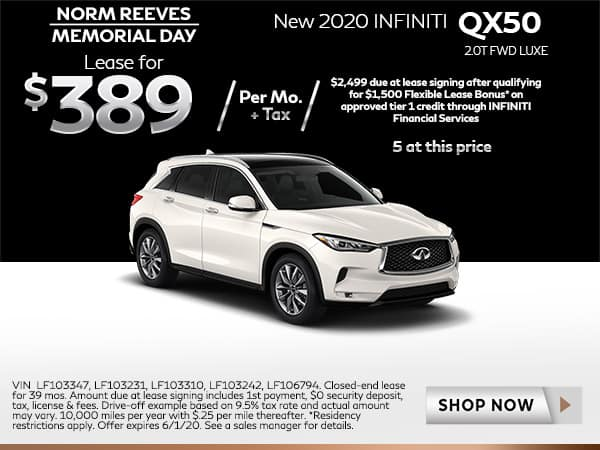New 2020 QX50 2.0T FWD LUXE