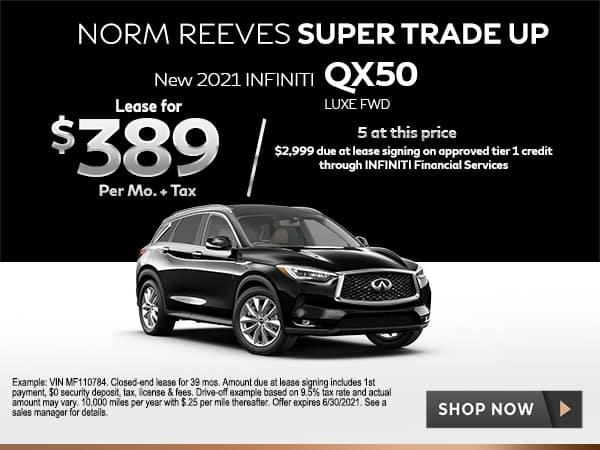 New 2021 INFINITI QX50 LUXE FWD