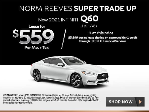 New 2021 INFINITI Q60 3.0t LUXE RWD