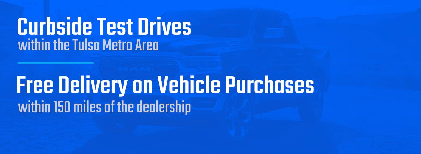 Curbside test drives, free delivery on vehicle purchases
