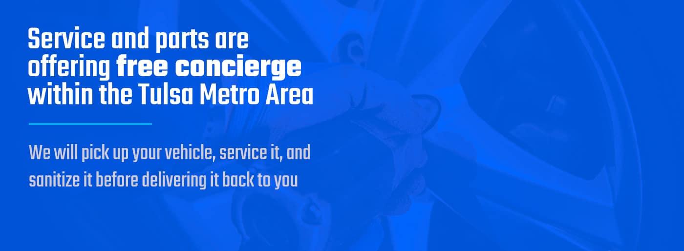 Service and Parts Concierge service