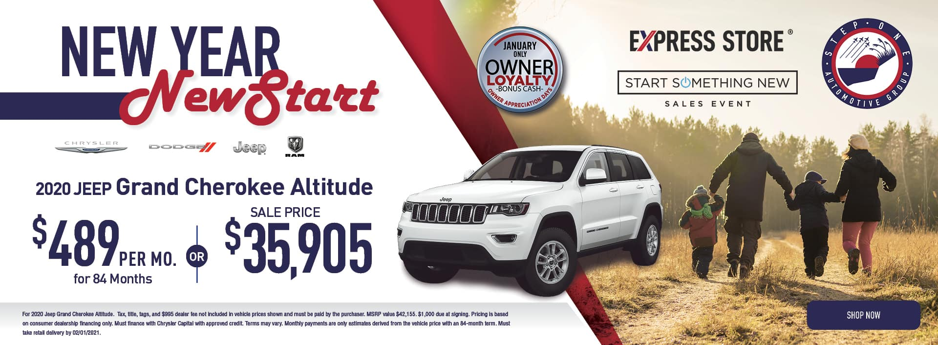 New Year New Start Grand Cherokee
