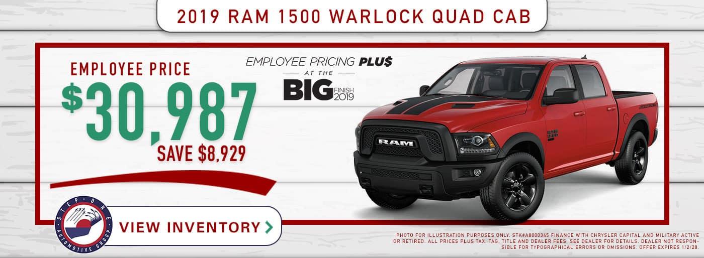 CDJR Fort Walton Beach - 2019 RAM 1500 Warlock